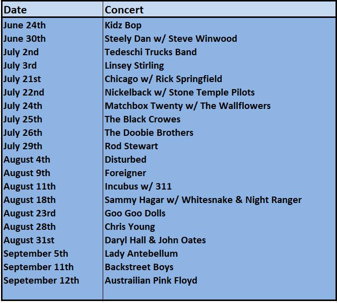 concert lineup